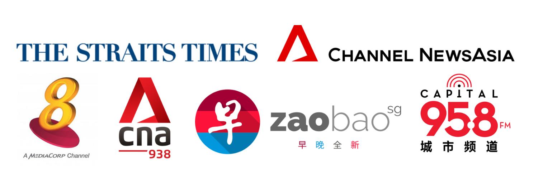 Strait Times, CNA, Mediacorp Channel 8, Zaobao, Capital 958, CNA 938